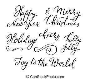 Christmas New Year calligraphy - Calligraphy Christmas New...