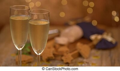 Christmas, new year celebration, champaign, foie gras toast, French gastronomy, France