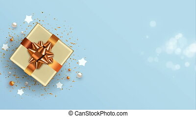 Christmas new year copper 3d top view gift card