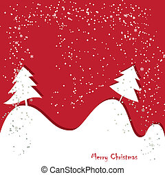 Christmas , New Year greeting traditional red card