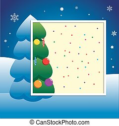 christmas new year party invitation card poster template