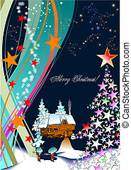 Christmas - New Year shine card