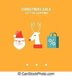 Christmas New Year shopping sale