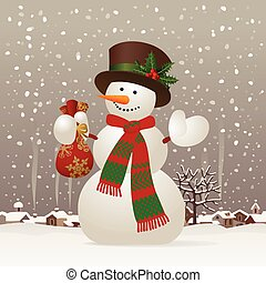 Christmas & New-Year's snowman