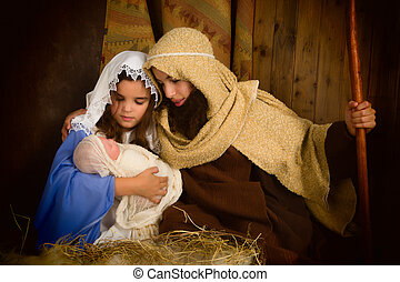 Christmas night nativity