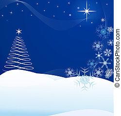 Christmas Night on Blue