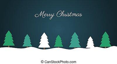 Christmas night winter greeting card.