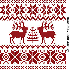 Christmas norwegian pattern - Collection of christmas...