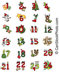 christmas numbers - illustration of christamas numbers...