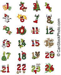 christmas numbers - illustration of christamas numbers...
