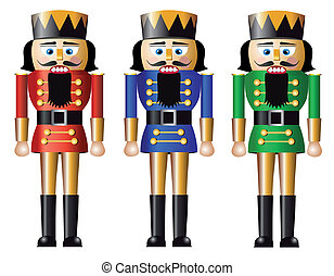 Christmas nutcracker - Nutcracker, design in three...
