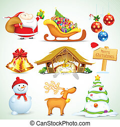 Christmas Object - illustration of set of Christmas object...