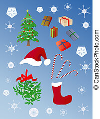 Christmas objects - various Christmas elements for the ...