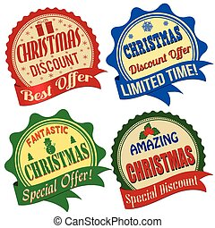 Christmas offer label, sticker or stamps