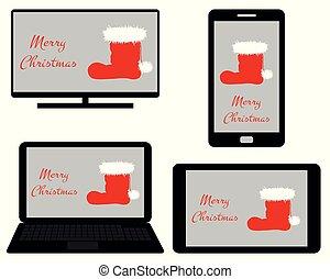 Christmas on digital media