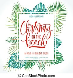 Christmas on the Beach lettering