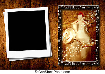 Christmas one empty frame