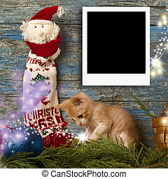 Christmas one instant empty photo frames