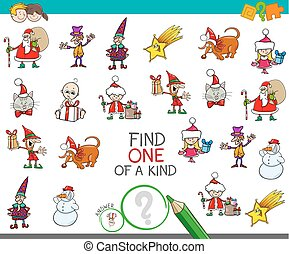 Christmas one picture of a kind cartoon game