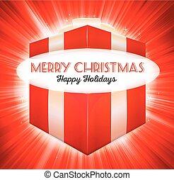 Christmas Open Gift Box