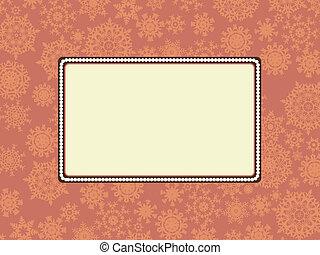 Christmas or holiday frame. EPS 8
