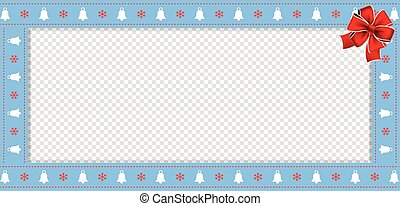 christmas or new year border with xmas bells snowflakes