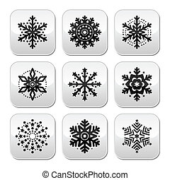 Christmas or  Snowflakes buttons