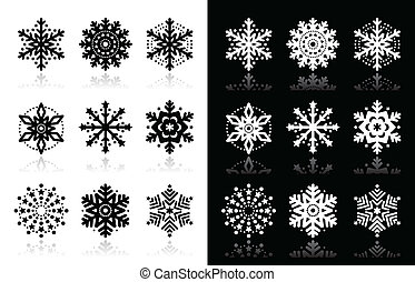 Christmas or winter Snowflakes icon