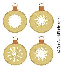 Christmas ornamenst - Set of vector ornaments - glass balls