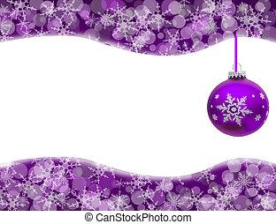 Christmas Time - Christmas ornament and snowflake border ...