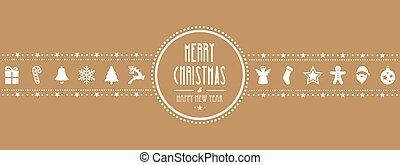 christmas ornament banner gold background