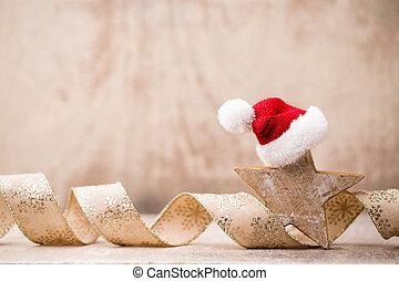 Christmas ornament. - Christmas greeting card un symbol xmas...