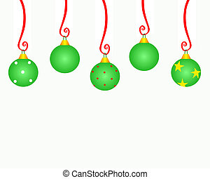 Christmas Ornament Copyspace - Christmas ornaments hanging...