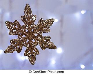 Christmas ornament-golden star