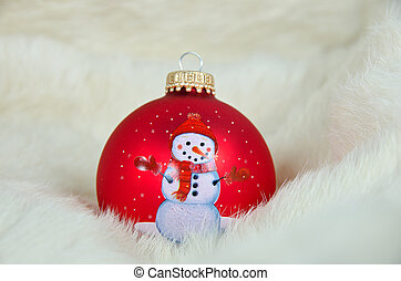 Christmas ornament in fur