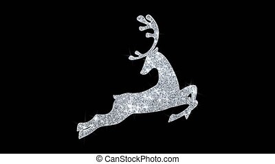 Christmas Ornament Santa Claus sleigh with deer Blinking ...