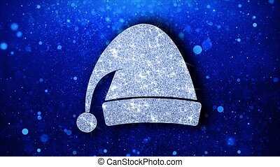 Christmas Ornament Santa Hat Element Blinking Icon Particles...