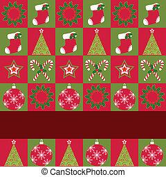 Christmas ornament seamless pattern greeting card