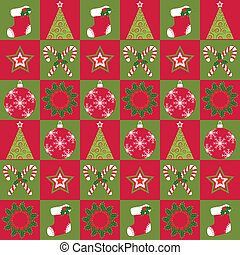 Christmas ornament seamless pattern
