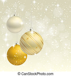 Christmas ornament vector background card