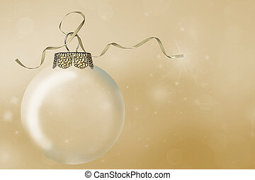 Christmas ornament with gold ribbon