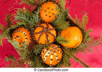 Christmas ornament with orange