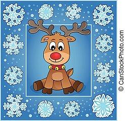 Christmas ornamental greeting card 1