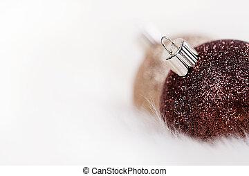 Christmas Ornaments and Fake Snow