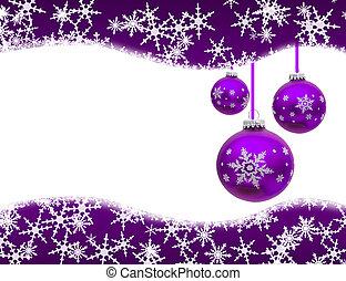 Christmas Time - Christmas ornaments and snowflake border ...
