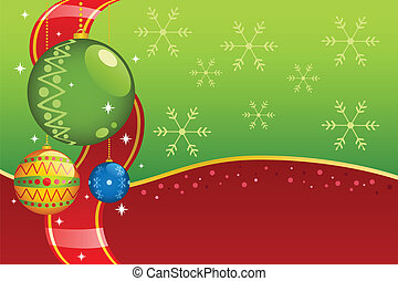 Christmas ornaments background - A vector illustration of...
