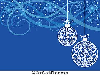 Christmas ornaments balls - Hanging christmas white balls...