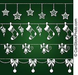 Christmas ornaments decorations set
