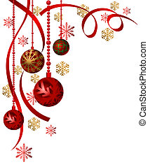 Christmas Ornaments - Background illustration with christmas...