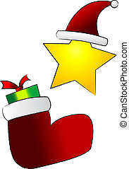 Christmas Ornaments - Cartoon vector drawing of Christmas...